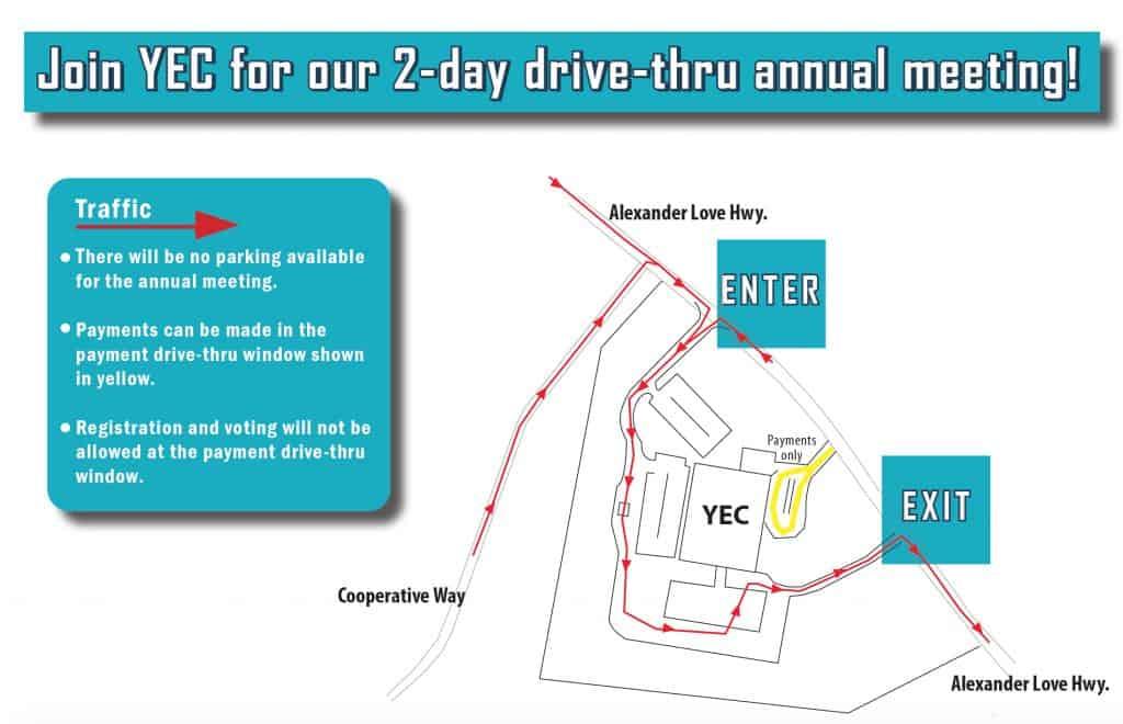 YEC Annual Meeting Drive-Thru Map