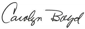 Carolyn Boyd signature