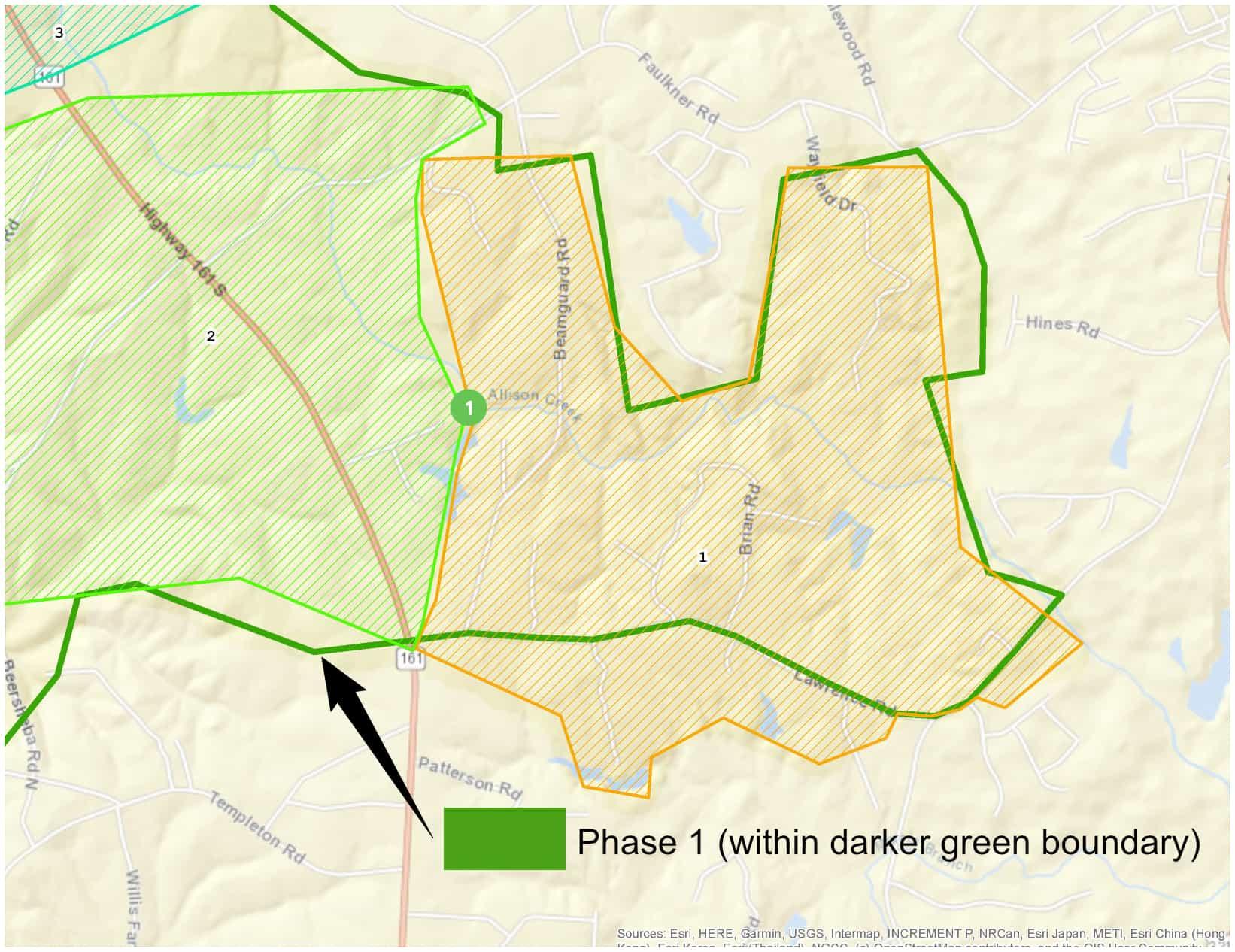 YEC Fiber Phase One Map
