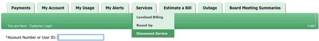 Member Portal toolbar graphic illustrating service tab locations