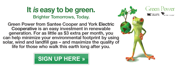 Sign up for green power here.