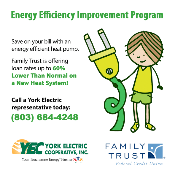 York Electric and Family Trust Federal Credit Union are offering a special program to help you save energy on your power bill.