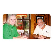 Vicki Blanton and Donnie Ferguson, owners of Palmetto Seafood Bar & Grill.