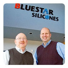 David Beaty, left, of Bluestar Silicones with Marc Howie of YEC.