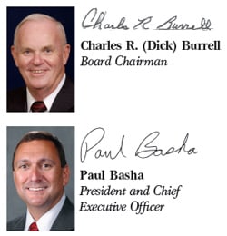 Charles R. (Dick) Burrell YEC Board Chairman & Paul Basha President and Chief Executive Officer