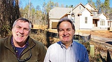 Custom builders Chuck Dohm of CWD Construction, Inc., right with Tom Smith
