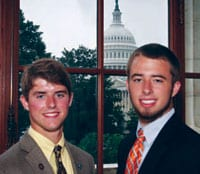 Chadwick Rollins of Rock Hill and Kemp Wilson of Chester represented YEC on the Washington Youth Tour, June 15–20, 2013