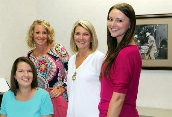 Member Services Representatives Jamie Deese, Meghan Green, Kim Black and Meghan Goforth