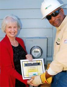 Claudia Mady with veteran YEC serviceman Vic Wilform