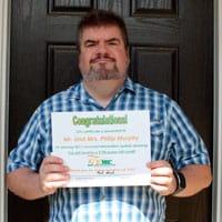 YEC power bill credit winner Philip Murphy, of Fort Mill.