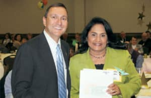 Paul Basha, President and CEO, recognizes Dr. Vina Pesaru as one of YEC's 75 High Voltage Heroes.
