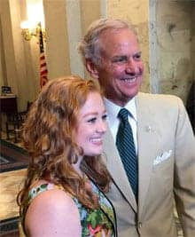 South Carolina Governor with Youth Summit student