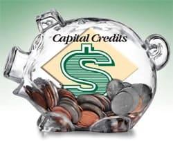 Capital Credits piggy bank
