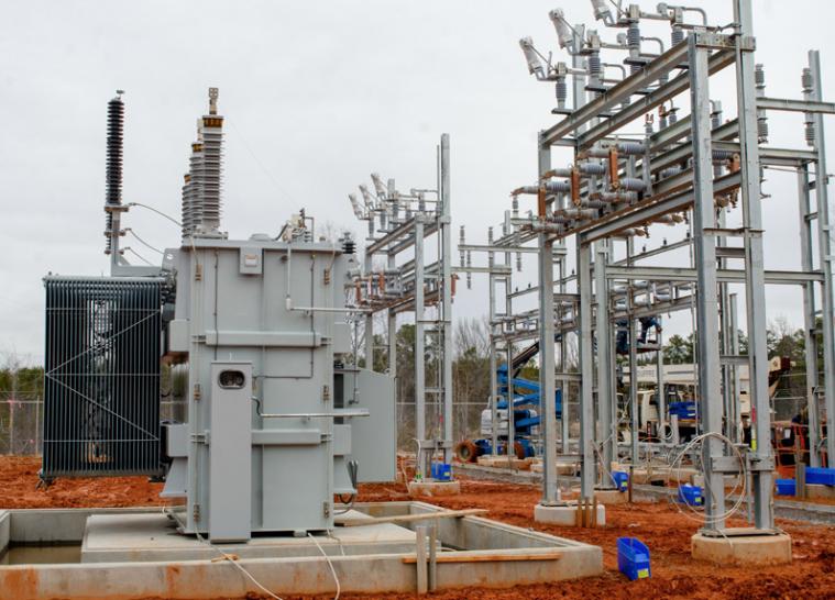 Photo B: Aycock School substation transformers