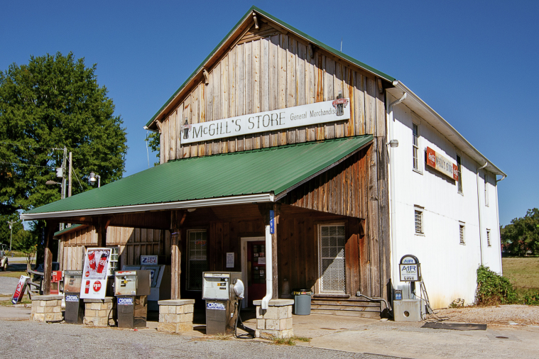 McGill's Store, a family-owned general store in the Bethany community, opened in 1888.