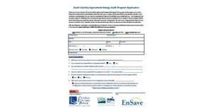 [PDF] South Carolina Agricultural Energy Audit Program Application