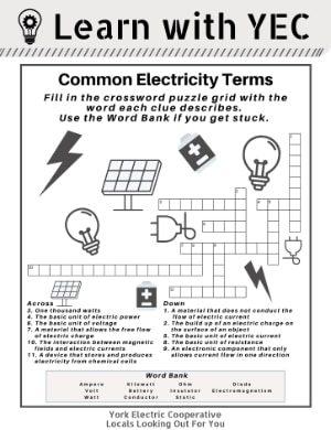 [PDF] Common Electricity Terms Crossword Puzzle