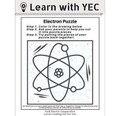 [PDF] Electron Puzzle Coloring Page