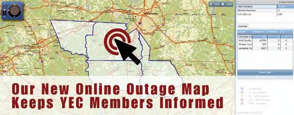 New Online Outage Map Keeps Yec Members Informed York Electric