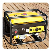 Portable gas powered generator.